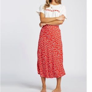 Fresh to Free Midi Skirt